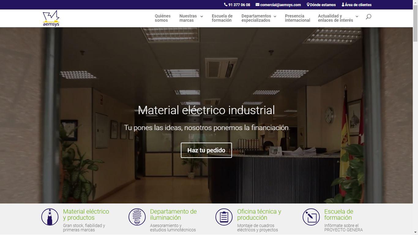 Nueva web de Almacenes Eléctricos Madrileños