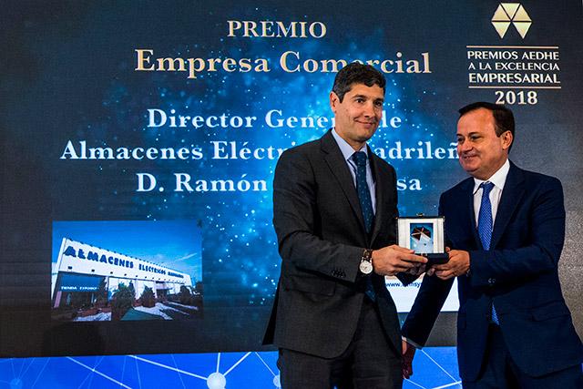 Reconocimiento Premios AEDHE Empresa Comercial del Año 2018