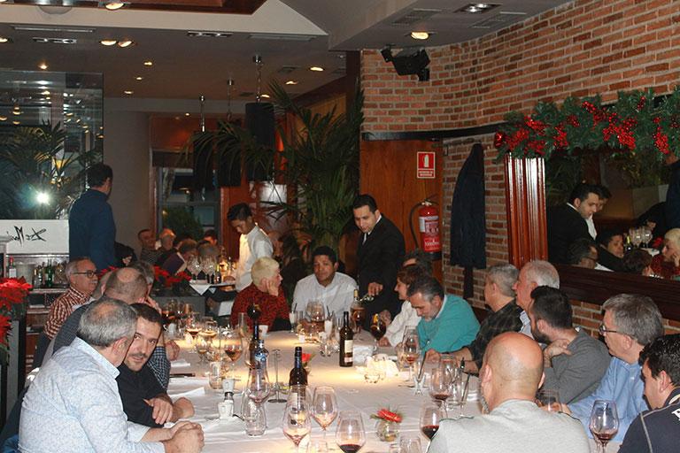 Comida de navidad de Almacenes Eléctricos Madrileños