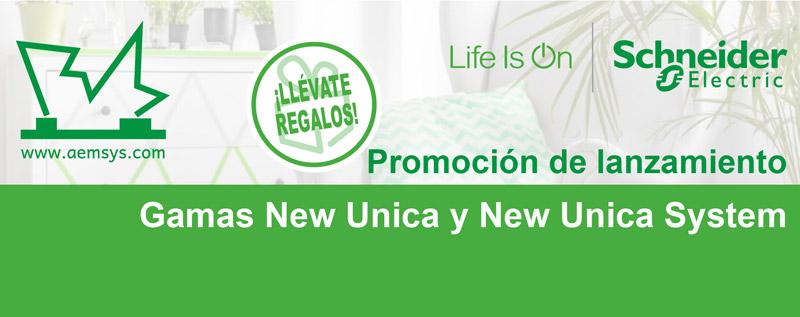 Promociones lanzamineto Schneider Electric gamas New Unica y New Unica System