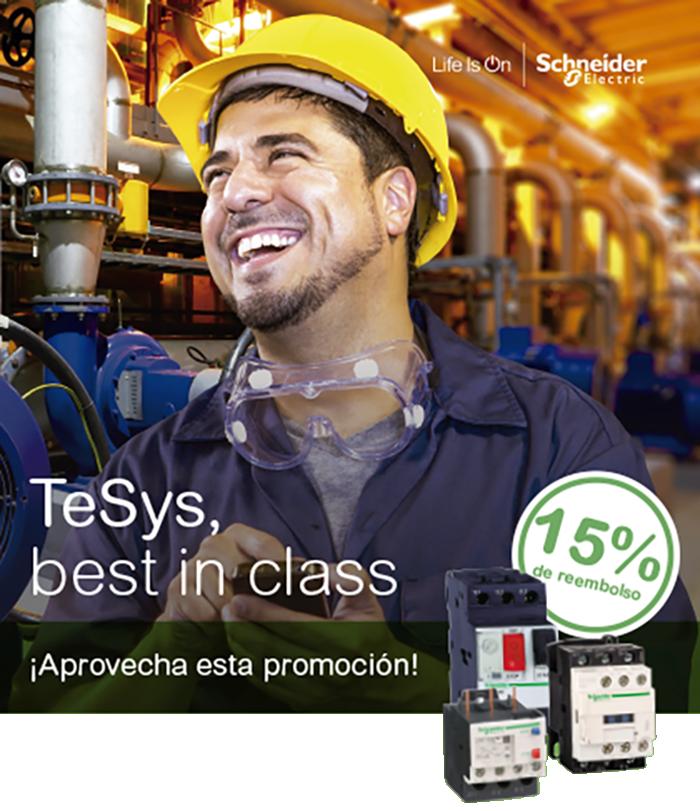 Consigue con Scheneider Electric un 15% de reembolso en la gama TeSys