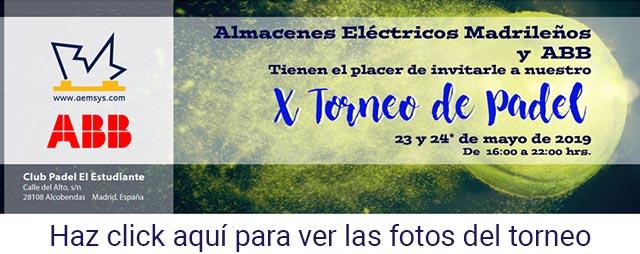 Fotos de la 10ª edición del torneo de Padel de Amacenes Eléctricos Madrileños con ABB