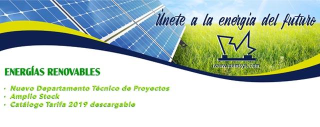 Nuevo departamento de renovables de Almacenes Eléctricos Madrileños