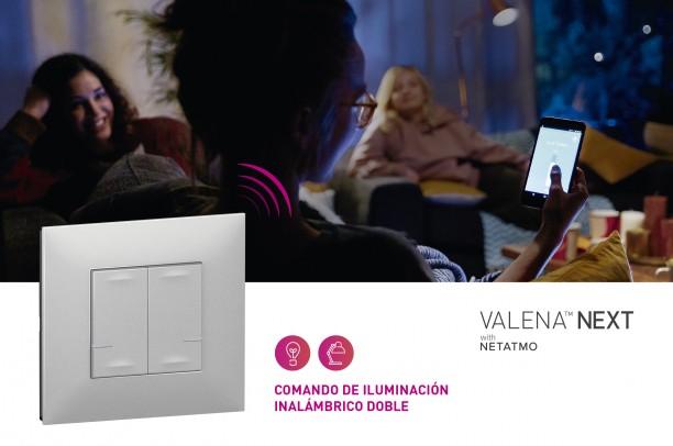 Comando doble de iluminación con la app Home + Control Legrand