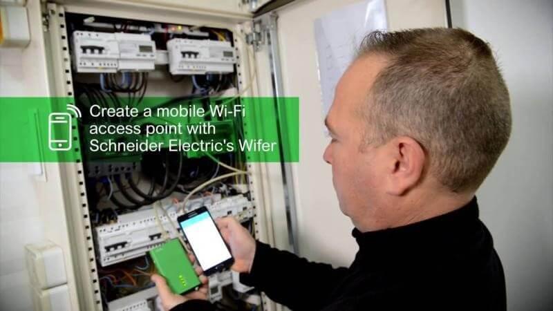 Smartlink Elec de Schneider Electric crea un punto de acceso wifi