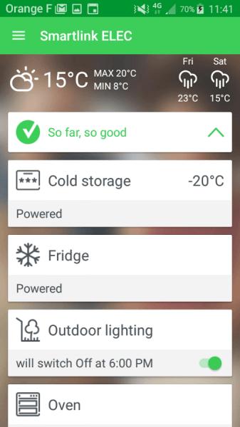 La app Smartlink Elec permite gestionar de forma remota la instalación
