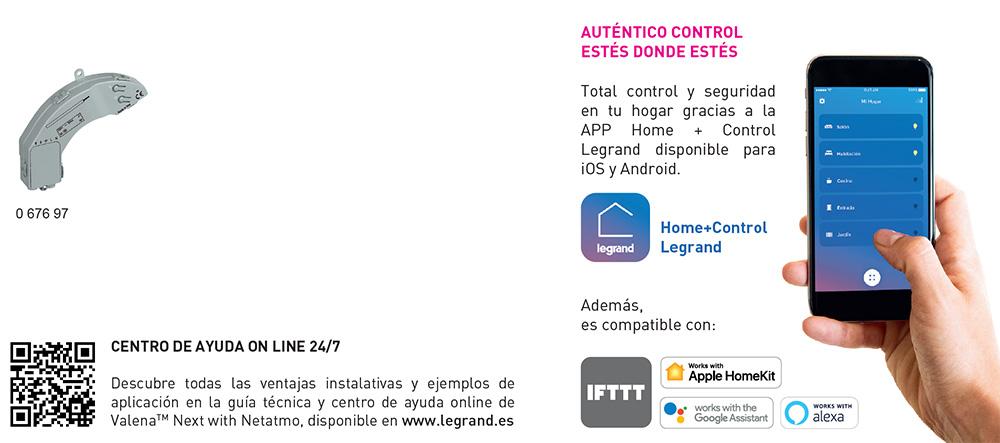 Control del micromódulo de Legrand para persianas inteligentes con App Home + Control Legrand